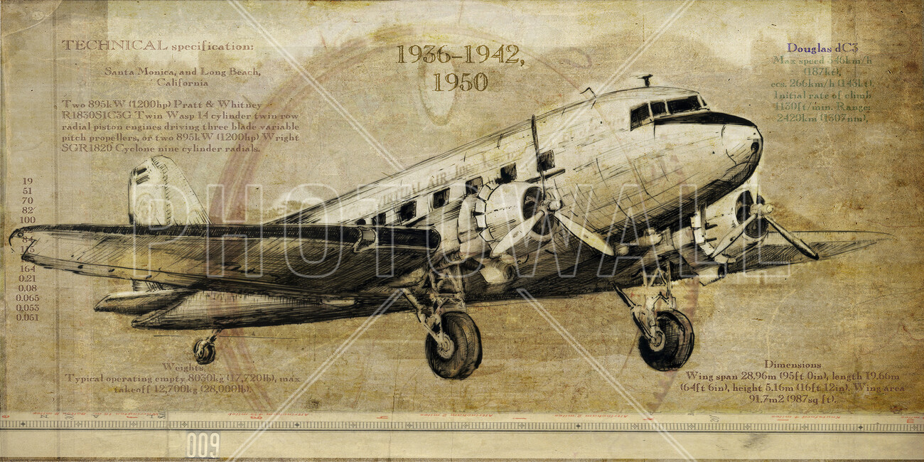 Airplane wall mural photo wallpaper photowall for Aviation wall mural