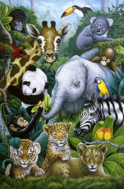 Jungle Animals Wall Mural Amp Photo Wallpaper Photowall