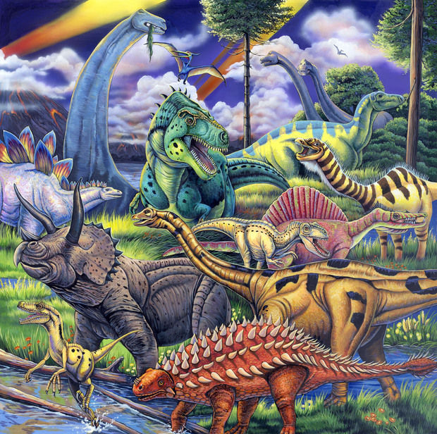 Dinosaur Friends - Wall Mural & Photo Wallpaper - Photowall