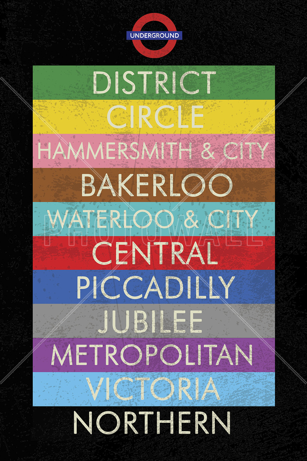 London Underground Sign Wall Mural Amp Photo Wallpaper