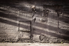 Fototapete - Concrete Wall with Shadows