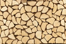 Fototapet - Light Brown Firewood