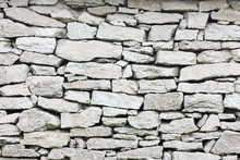 Canvas print - Grey Stone Wall
