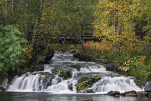 Canvastavla - Beautiful Lapland Waterfall