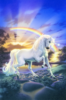 Canvas print - Rainbow Unicorn