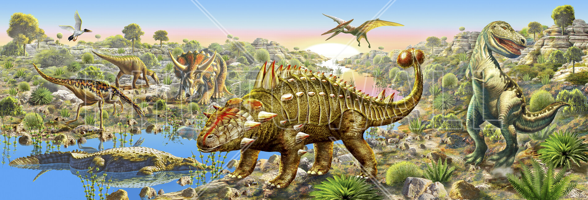 Dinosaur valley panorama wall mural photo wallpaper photowall dinosaur valley panorama amipublicfo Image collections