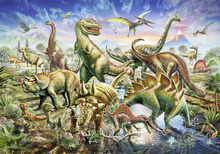 Canvas print - Dinoscene