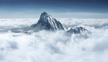 Canvas print - Alpine Mountain in the Clouds