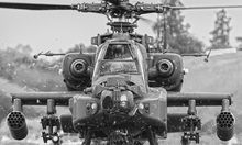Canvas print - Apache Helicopter