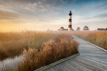 Canvastavla - Lighthouse in North Carolina