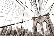 Canvas-taulu - Manhattan Bridge New York