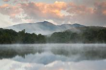 Fototapet - Mountain Lake Reflection of Blue Ridge