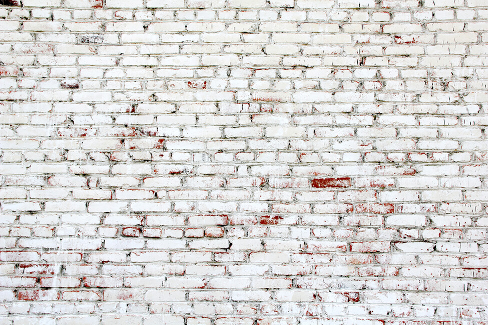 Old brick wall with white and red bricks wall mural for Distressed brick wall mural