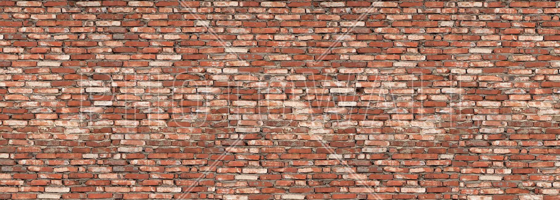 Old Brick Wall Decor : Old brick wall red canvas print art photowall