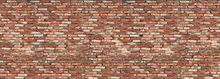 Fototapete - Old Brick Wall Red