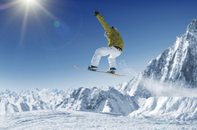 Fototapeta - Skier in the high Mountains
