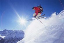 Canvas print - Adrenaline Skiing
