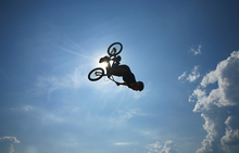 Lærredsprint - BMX Backflip