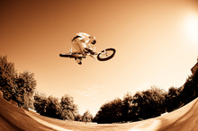 Canvas print - High BMX Jump