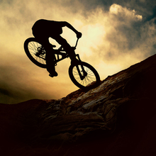 Canvas print - Mountain Bike Rider