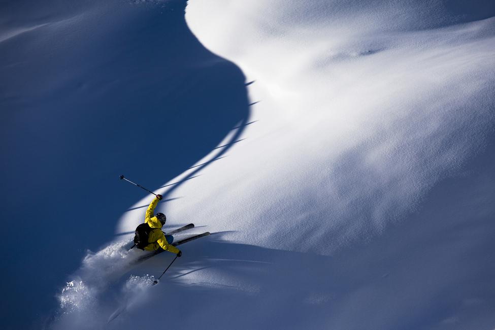 Powder Snow Skiing  Wall Mural u0026 Photo Wallpaper  Photowall