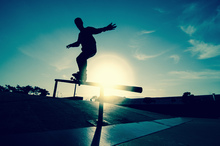 Canvas print - Skateboarder on a Grind