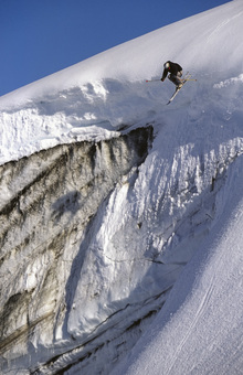 Fototapet - Skiing on the Apussuit Glacier