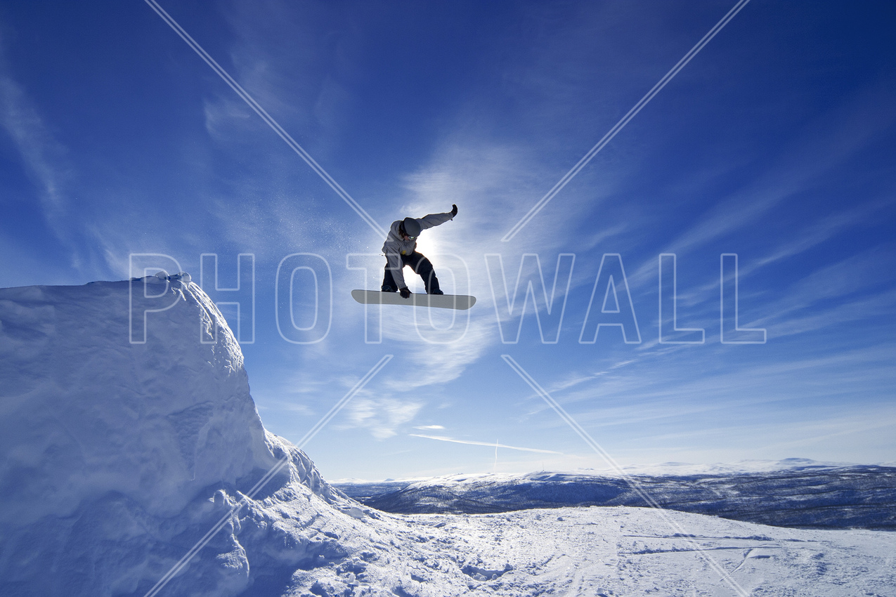 sports wallpaper wall murals photowall co uk wall mural snowboard big air jump