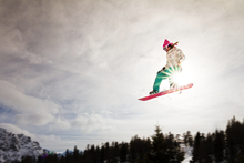 Mural de pared - Snowboard Sunshine Jump