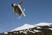 Canvas print - Superpipe Skier