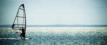 Impression sur toile - Windsurfer Panorama