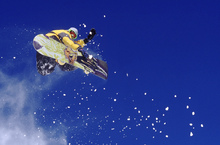 Wall mural - Airborne Snowboarder