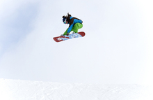 Canvas-taulu - High Air Snowboarding