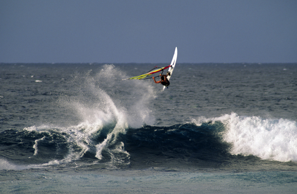 Windsurfer at Hookipa Beach Park