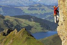 Fototapet - Rock Climbing in Pierra Menta
