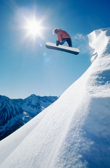 Canvas print - Snowboard Grab