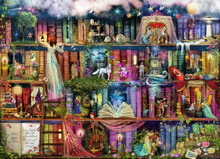Wall mural - Treasure Hunt Book Shelf