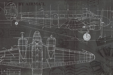 Wall Mural - Plane Blueprint