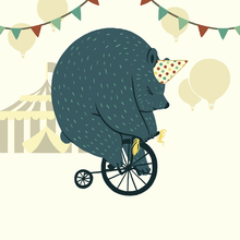 Canvas print - Little Circus Bear