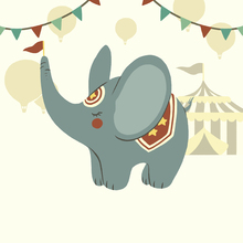 Canvas print - Little Circus Elephant
