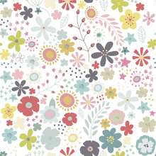 Tapet - Floral Art Pattern