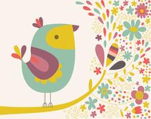 Wall mural - Birdie Num Nums