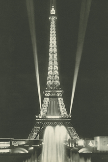 Canvas print - Eiffel Tower Lights