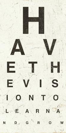 Canvas-taulu - Eye Chart II