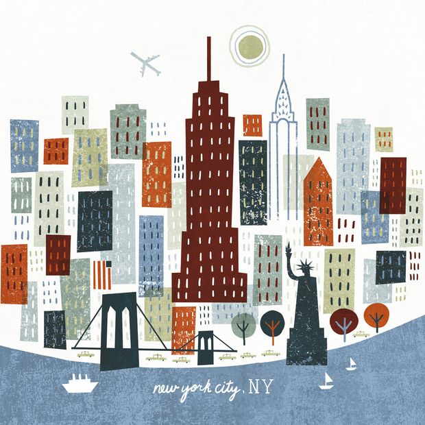 Colorful new york decoration murale papier peint photo for Decoration murale new york