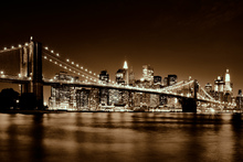 Canvas-taulu - Brooklyn Bridge - Yellow