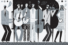 Mural de pared - The Band Black and White