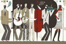 Wall mural - The Band Neutral