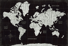 Mural de pared - Modern World Black