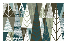 Canvas print - Geometric Forest